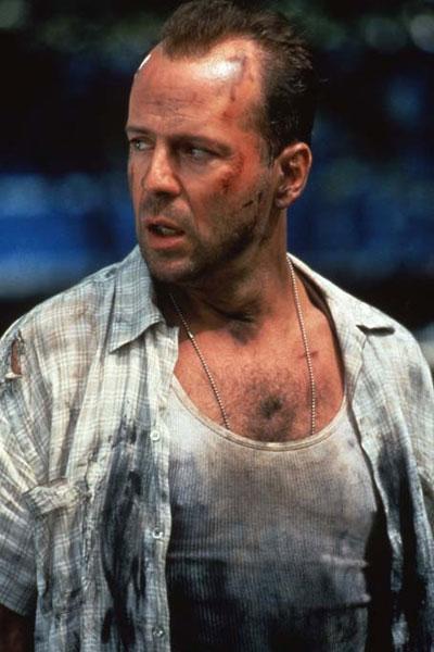 Bruce Willis dans le film Une journée en enfer (Die Hard 3)